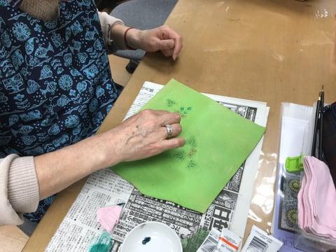 ラウンド札入れ染色 レザークラフト 教室 革工芸教室