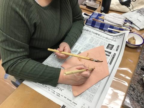 ろうけつ染め図案 レザークラフト教室 革工芸教室