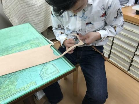 減り磨き レザークラフト教室 革工芸教室