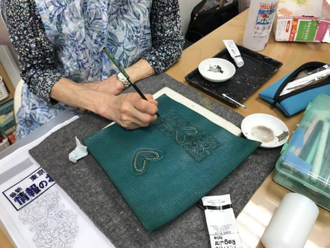 スマホケース レザークラフト教室 革工芸教室