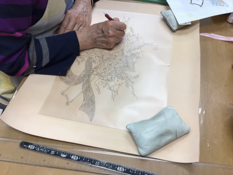 レザークラフト図案写し レザークラフト教室 革工芸教室