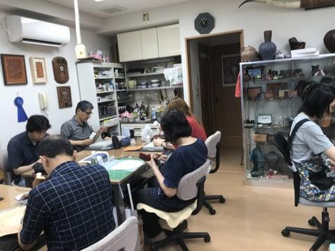 授業風景 レザークラフト教室 革工芸教室
