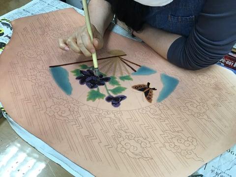 ろうけつ染木曜クラス レザークラフト教室 革工芸教室