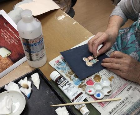 可愛い図案 レザークラフト教室 革工芸教室