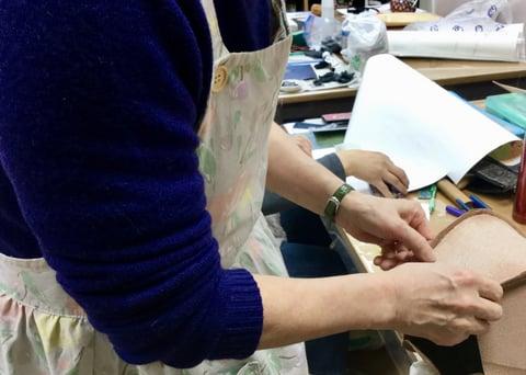 立体造形 レザークラフト教室 革芸教室