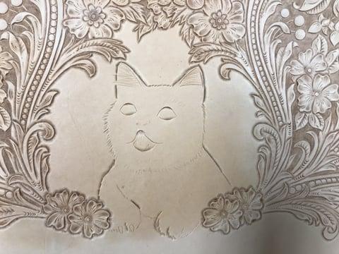フィギュアカービング 子猫 レザークラフ 教室 革工芸教室