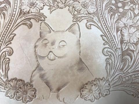 フィギュアカービング 子猫4 レザークラフ 教室 革工芸教室