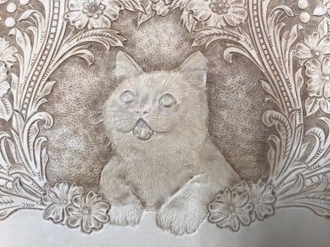 フィギュアカービング 子猫7 レザークラフ 教室 革工芸教室