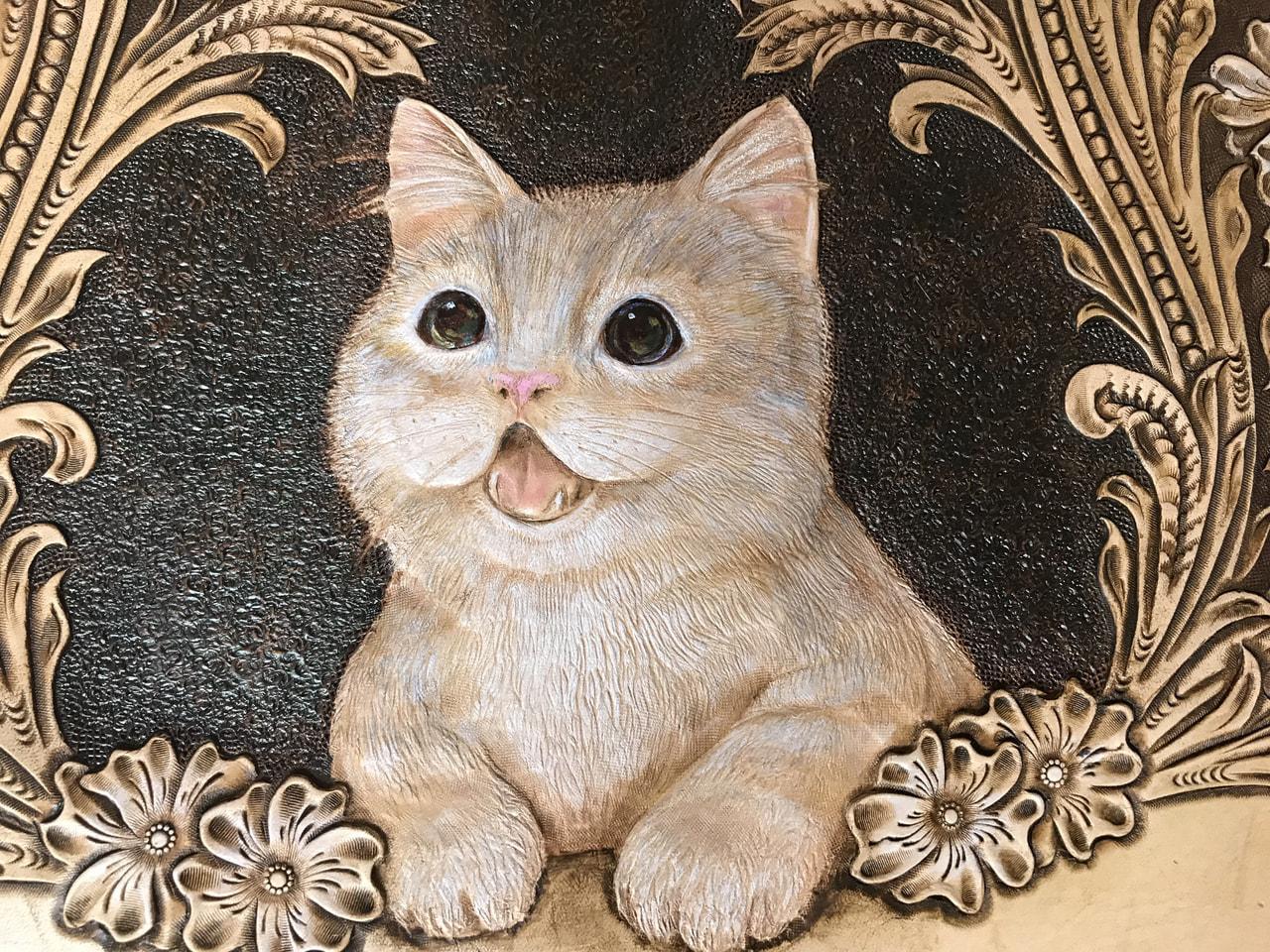 フィギュアカービング  子猫 着色編