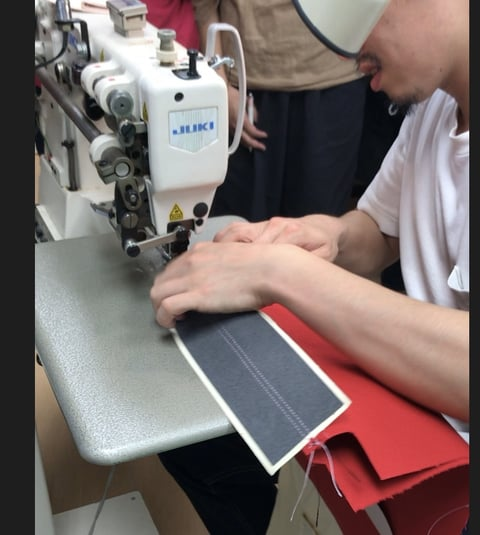 ミシン講習会仕立て説明 レザークラフト教室 革工芸教室