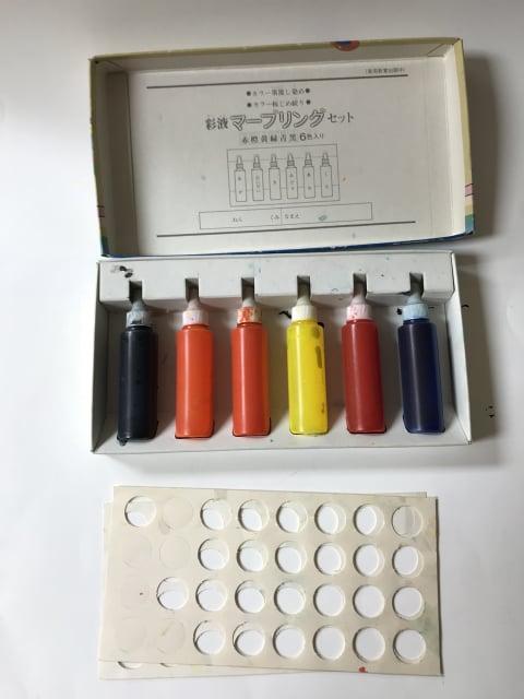 マーブリング 彩液 レザークラフト教室 革工芸教室