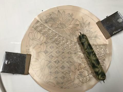 図案トレス レザークラフト教室 革工芸教室