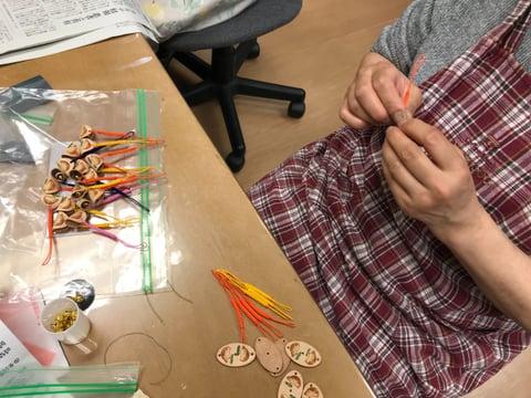 革のストラップ レザークラフト教室 革工芸教室