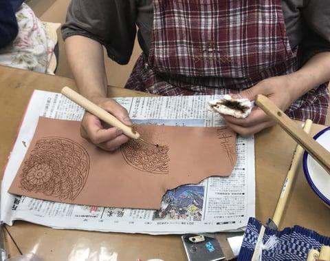 ろうけつ染 コーン レザークラフト教室 革工芸教室