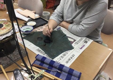 ろうけつ染かすり レザークラフト教室 革工芸教室