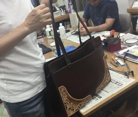 バッグ仕上げ レザークラフト教室 革工芸教室