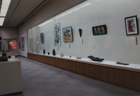 山形県立美術館内部 レザークラフト教室 革工芸教室