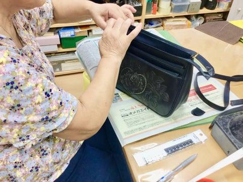 3段ファスナーバッグ レザークラフト教室 革工芸教室