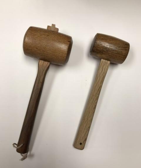 木槌2種 レザークラフト教室 革工芸教室