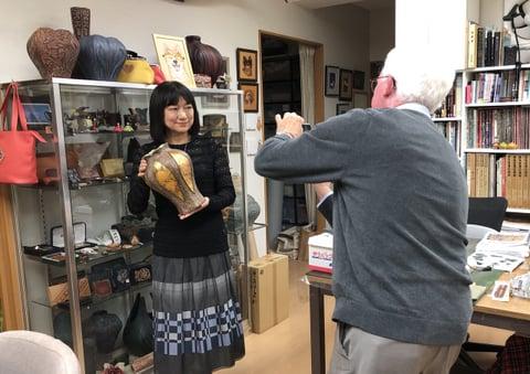 2021『北アメリカと日本のマスターカービング展』の取材 レザークラフト教室 革工芸教室