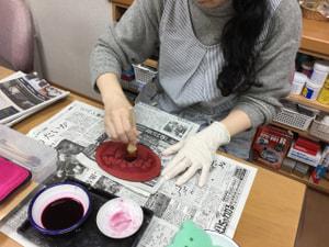 レザークラフト染色 レザークラフト教室 革工芸教室
