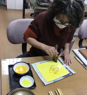 ろうけつ染め 染色 レザークラフト教室 革工芸教室