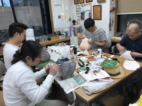 立体造形着色 レザークラフト教室 革工芸教室