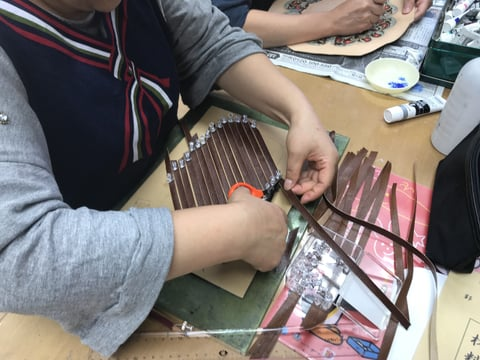 メッシュ レザークラフト教室 革工芸教室