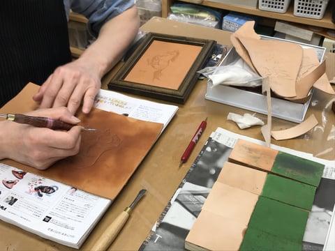 馬のモデリング レザークラフト教室 革工芸教室