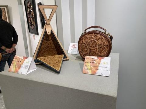 ILCE展示風景4 レザークラフト教室 革工芸教室