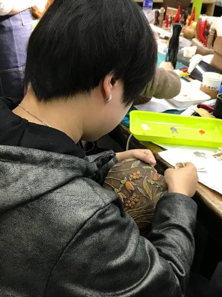 北京講習4日目−6 レザークラフト教室 革工芸教室
