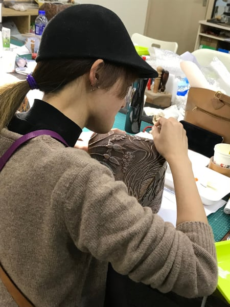 北京講習4日目−7 レザークラフト教室 革工芸教室