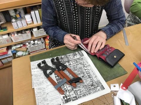 財布仕立て レザークラフト 教室 革工芸教室
