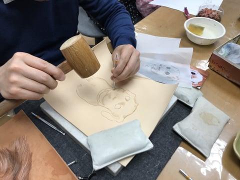 フィギュアカービング レザークラフト 教室 革工芸教室