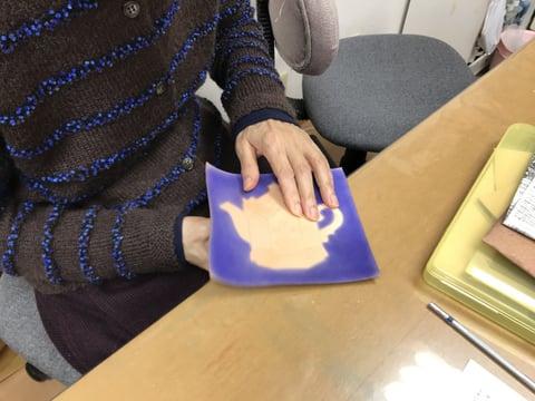 金彩画 レザークラフト教室 革工芸教室