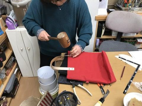 帆布のバッグ レザークラフト教室 革工芸教室