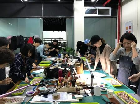 講習会しぼり染め レザークラフト教室 革工芸教室