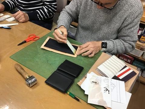 財布仕立て レザークラフ 教室 革工芸教室