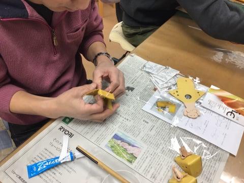 干支の置物製作中 レザークラフ 教室 革工芸教室